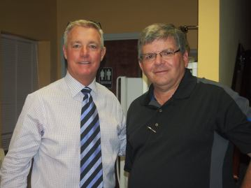 with former clemson coach tommy bowden when he spoke in lburg.