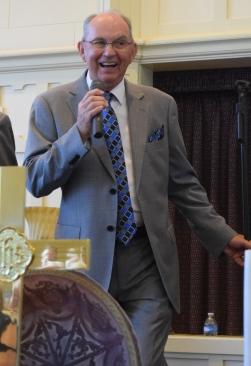 Lead Charles Hampton sings at David's Fork. (All photos by John Herndon.)
