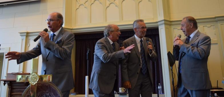 The Noblemen Quartet, from left, Charles Hampton, Rob Wagoner, Joe Hampton and Dan Clark.