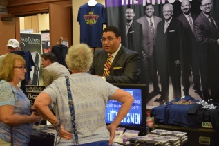Chris Jenkins, of The Kingsmen, talks with some fans.