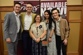 Stephanie Herndon wanted her photo with The Erwins, one of her favorite groups. From left are Kody Erwin, Keith Erwin, Stephanie Herndon, Katie Erwin and Kris Erwin.